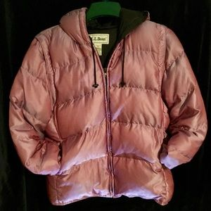 LL Bean Down Puffer 2 in 1 Jacket/ Vest Size L